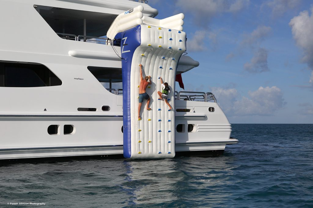 Climbing wall rental for yachts